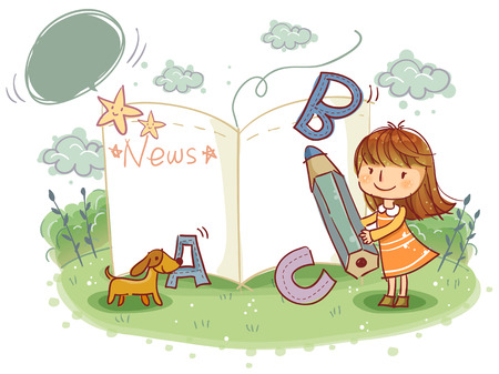 school life: Education, School Life, English Illustration