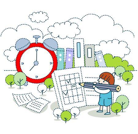 Education Illustration Stock Photo