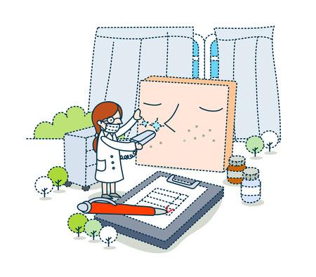 curtain up: Medical Illustration Stock Photo