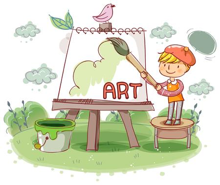 school life: Education, School Life, Art Illustration