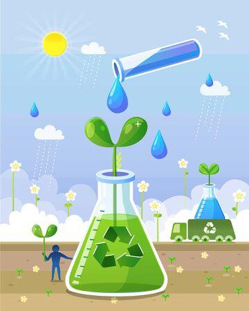 Science Illustration Stock Photo