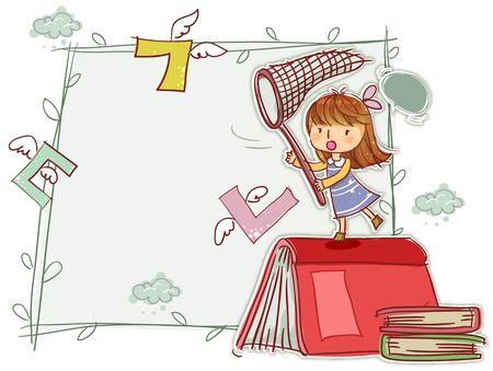school life: Education, School Life, Korean Language Illustration