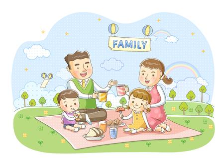 advertising woman: Family Life Illustration Stock Photo