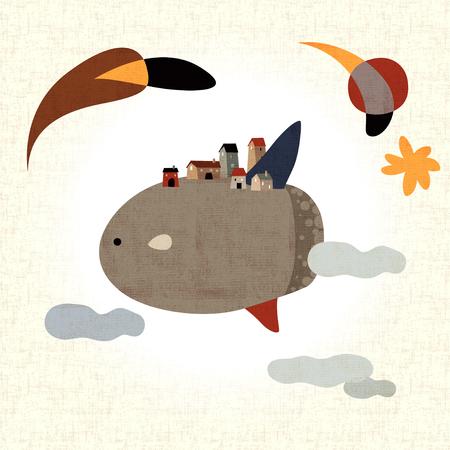 sunfish: Imagination World Illustration