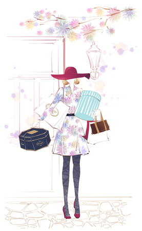 A Young Womans Life Illustration