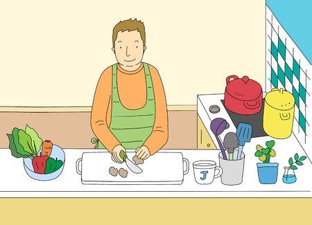 A Single Mans Life Illustration Stock Photo