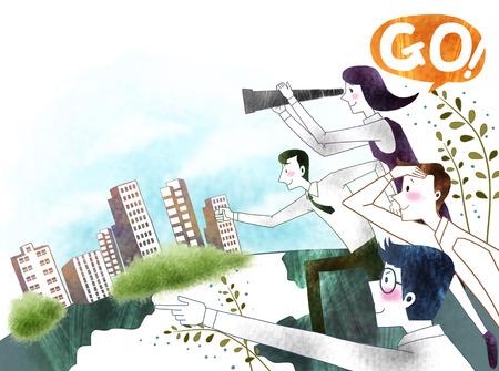 Creative Business Illustration Imagens