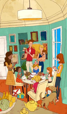 family: Family Fun Time Illustration