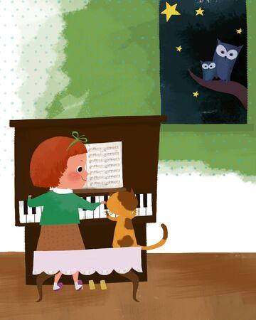 hairband: Childrens World Illustration
