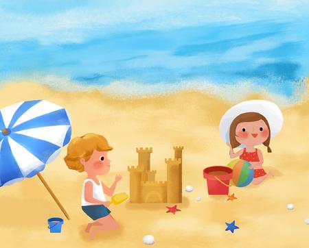sandcastles: Childrens World Illustration