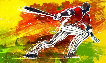 batters: Baseball Action Illustration