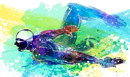 Athletics Illustration Stock Photo