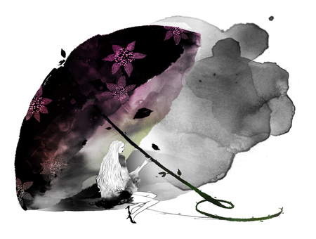 kelly: Abstract Young Womans Lifestyle Illustration