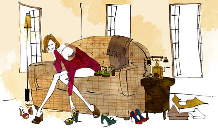 Young Hip Womans Lifestyle Illustration Stock Photo