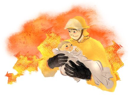 swaddling: Love And Compassion Illustration