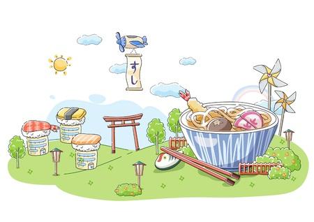 food: Japanese Food Illustration