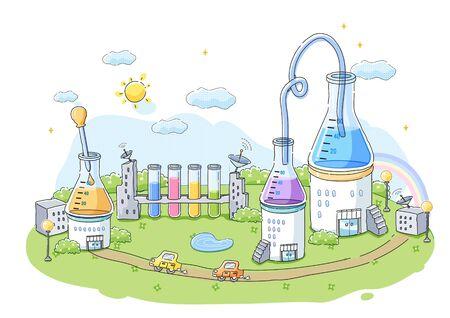 Wetenschap illustratie