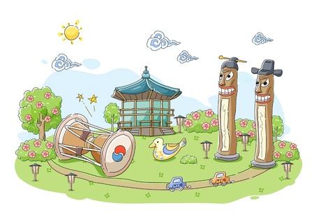 Korean Tradition Illustration