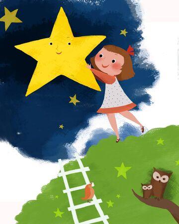 night dress: Childrens World Illustration