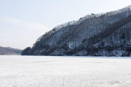 frozen river: Frozen river; South Korea; Gangwon;