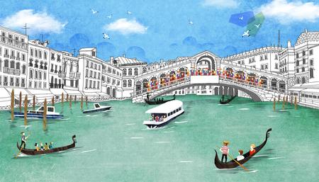 rialto: World Travel Illustration