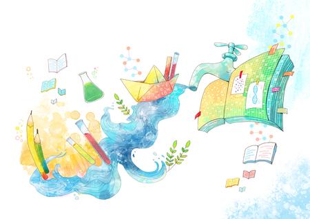 Abstract Child Education Illustration Stock Photo