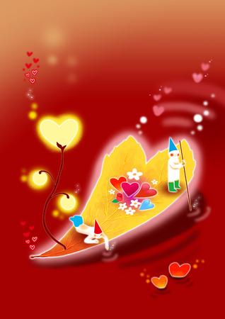 Fairy Love Illustration Stock Photo