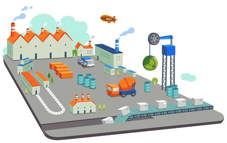 raw materials: Special Themed Miniature Town Illustration Stock Photo