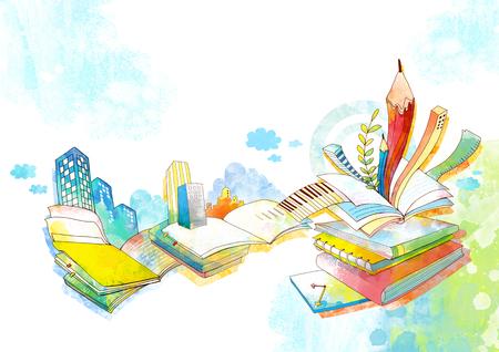 Abstract Child Education Illustration Imagens