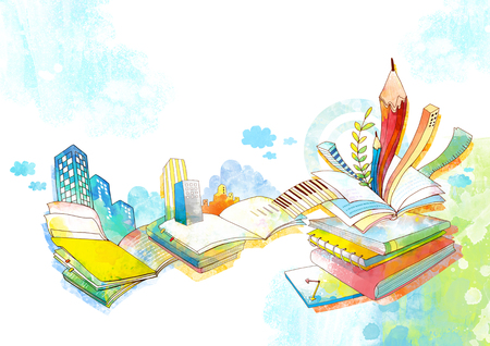 Abstract Child Education Illustration Stock Photo