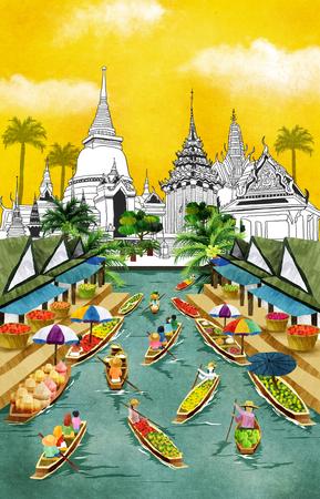 World Travel Illustration Imagens - 71825917