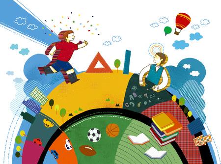 balon de basketball: Ilustración imaginativa Vida