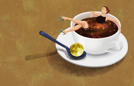 teaspoon: Childs Imagination Illustration Stock Photo
