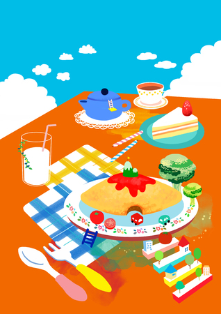 Fun Food Illustration
