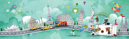세계 여행의 그림