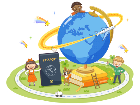 Children's Education Illustration Stock Illustration - 71740897