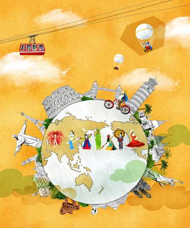 World Travel Illustration