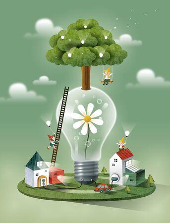 tree: Imagination Story Illustration