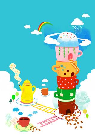 cup four: Fun Food Illustration