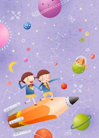 Childrens Fun Time Illustration