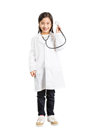 Young Child In A Doctor's Gown Imagens - 72118411