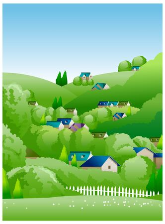illustrating: country side illustration