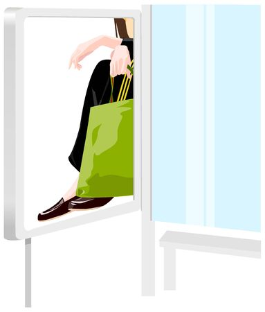 Person with shopping bag Illustration