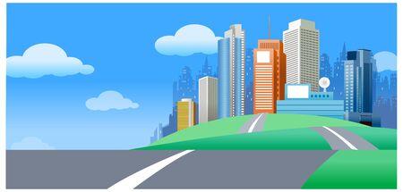 city Skyline Illustration Illustration
