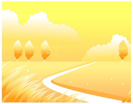 This illustration is a common natural landscape. Illustration