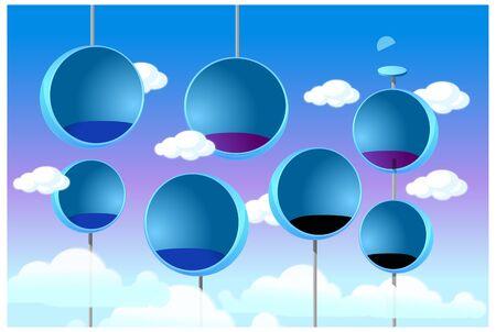 Modern bar chair in sky