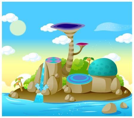 This illustration is a common natural landscape. Ilustração