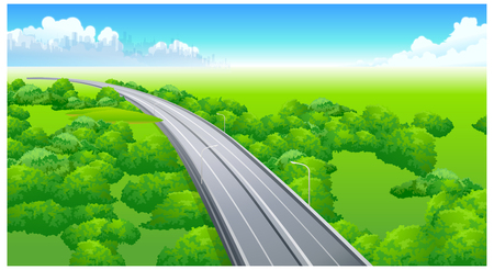 elevated: This illustration is a common natural landscape. Illustration