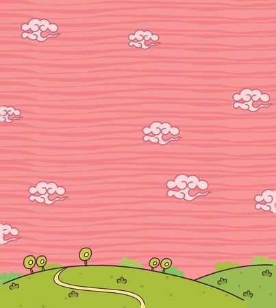 patchwork landscape: This illustration is a common natural landscape. Illustration
