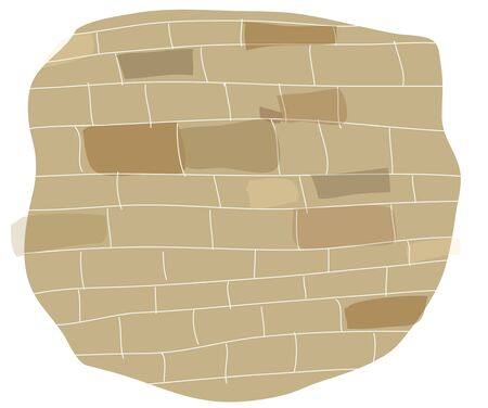 faade: Brick wall on white background